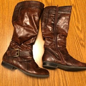Brown Leather Riding Style Boots